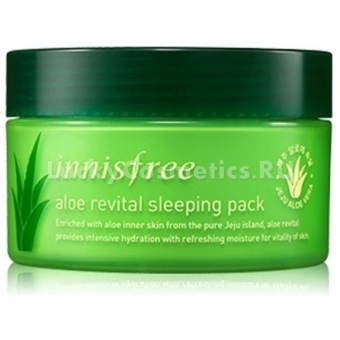 Восстанавливающая ночная маска с алоэ вера Innisfree Aloe Revital Sleeping Pack