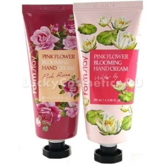 Крем для рук Farmstay Pink Flower Blooming Hand Cream
