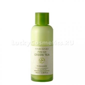Увлажняющая эмульсия с зелёным чаем Nature Republic Fresh Green Tea 70 Emulsion