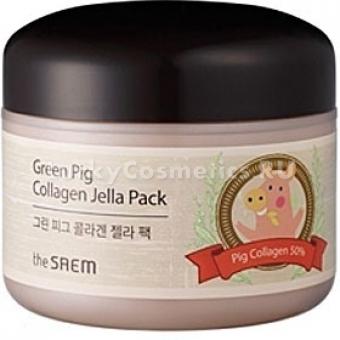 Омолаживающая гелевая маска The Saem Green Pig Collagen Jella Pack