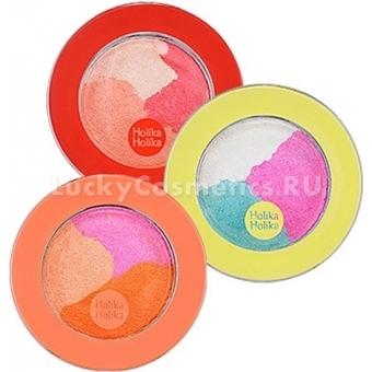 Тени для век трехцветные Holika Holika Jewel-light Shuffle Color Eyes
