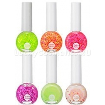 Лак для ногтей неоновый с глиттером Holika Holika Neon Beam Sparkle Nails