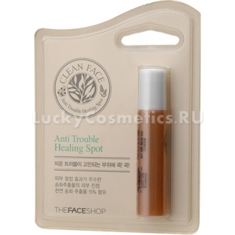 Карандаш антибактериальный The Face Shop Clean Face Anti Trouble Spot