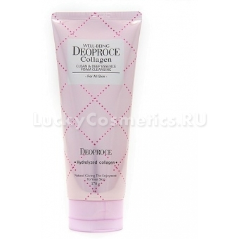 Пенка для умывания с коллагеном Deoproce Well-Being Collagen Clean & Deep Essence Foam Cleansing