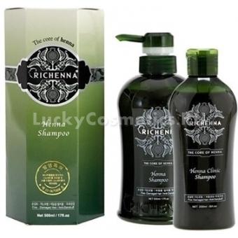 Шампунь восстанавливающий с хной Richenna Clinic Henna Shampoo