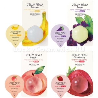 Увлажняющая маска с витаминным комплексом Skinfood Jelly Peau Fruits Mask Wash Off