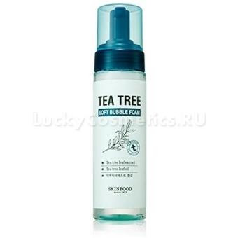 Пузырьковая пенка для умывания с экстрактом чайного дерева Skinfood Tree Soft Bubble Foam Tea