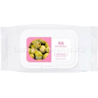 Очищающие салфетки с экстрактом оливкового масла Holika Holika Daily Fresh Olive Cleansing Tissue