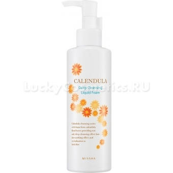 Очищающая пенка для умывания Missha Calendula Deep Cleansing Liquid Foam