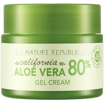 Гель-крем из калифорнийского алоэ вера Nature Republic California Aloe Vera 80% Gel Cream