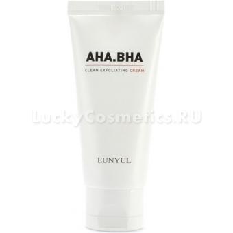 Обновляющий крем с AHA и BHA кислотами Eunyul AHA BHA Clean Exfoliating Cream