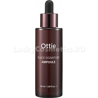 Ампульная сыворотка с муцином черной улитки Ottie Black Signature Ampoule