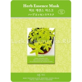 Листовая маска с травами Mijin Cosmetics Herb Essence Mask