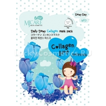 Коллагеновая маска Mijin Cosmetics Mj Care Daily Dewy Сollagen Mask Pack