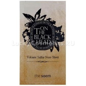 Пластырь для очищения пор носа  The Saem On The Blackhead Volcanic Sulfur Nose Sheet