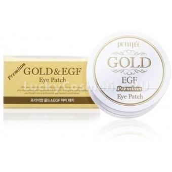 Локальные патчи для век Petitfee Hydro Gel Eye Patch Premium Gold & EGF