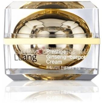 Крем с экстрактом женьшеня и улитки Llang Prestige Ginseng-Cargo Cream