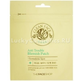 Патчи для борьбы с акне The Face Shop Anti Trouble Blemish Patch