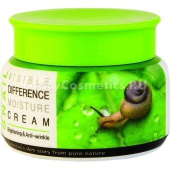 Увлажняющий крем с экстрактом улиточного муцина Farmstay Visible Differerce Moisture Cream Snail