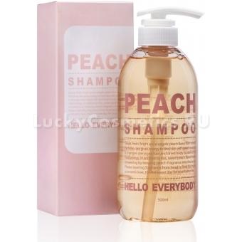 Шампунь с экстрактом персика и коллагеном Hello Everybody Peach Shampoo