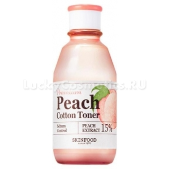 Тонер с экстрактом персика Skinfood Premium Peach Cotton Toner