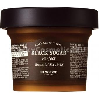 Скраб с чёрным сахаром Skinfood Black Sugar Perfect Essential Scrub 2Х