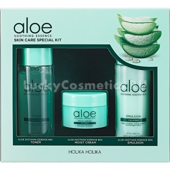 Набор средств для лица с алоэ Holika Holika Aloe Soothing Essence Skincare Special Kit