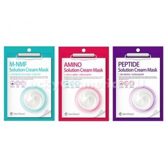 Тканевая маска с кремовой пропиткой Mijin Cosmetics Skin Planet Solution Cream Mask