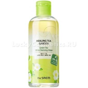 Двухфазная очищающая вода The Saem Healing Tea Garden Green Tea Oil in Cleansing Water