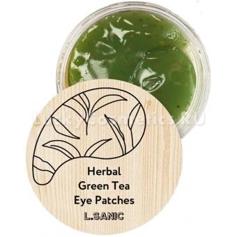 Гидрогелевые патчи с экстрактом зелёного чая L'Sanic Herbal Green Tea Hydrogel Eye Patches