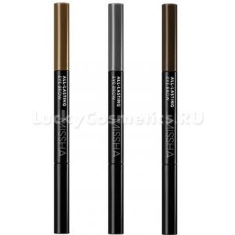 Стойкий двухсторонний карандаш для бровей Missha All-Lasting Eye Brow