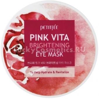 Осветляющие патчи для глаз Petitfee Pink Vita Brightening Eye Mask