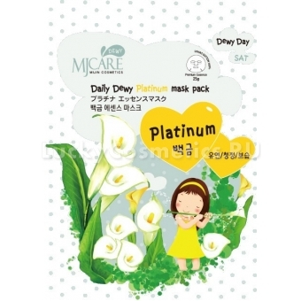 Листовая маска с платиной Mijin Cosmetics Mj Care Daily Dewy Platinum Mask Pack