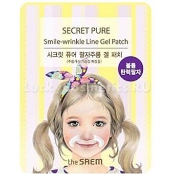 Антивозрастная гидрогелевая маска для носогубных складок The Saem Secret Pure Smile-wrinkle Line Gel Patch