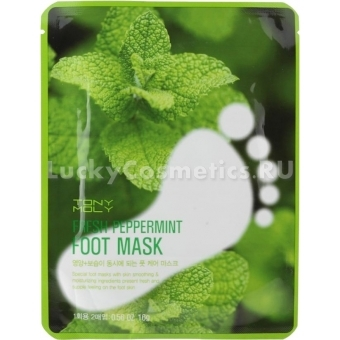 Мятная маска для ног Tony Moly Fresh Peppermint Foot Mask2
