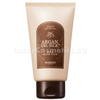 Маска для волос с маслом арганы и аминокислотами шелка SkinFood Argan Oil Silk Plus Hair Maskpack