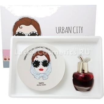 Набор: кушон + тинт для свежести Baviphat Urban City UV Contact Fresh Cushion