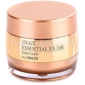 Улиточный крем с золотом The Saem Snail Essential EX 24K Gold Cream