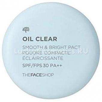 Компактная пудра The Face Shop Oil Clear Smooth&Bright Pact