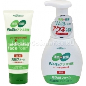 Пенка для проблемной кожи Kumano Cosmetics Pharmaact Acne Control Medicated Face Foam