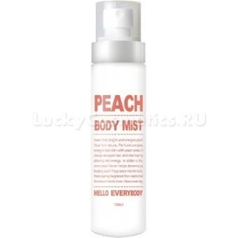 Увлажняющий мист для тела с экстрактом персика и коллагеном Hello Everybody Peach Body Mist