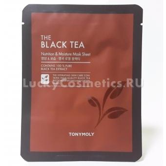 Антивозрастная тканевая маска с чёрным чаем Tony Moly The Black Tea Mask Sheet