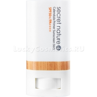 Солнцезащитный праймер в стике с календулой Secret Nature Calendula Primer Sunscreen Stick SPF 50+/PA++++