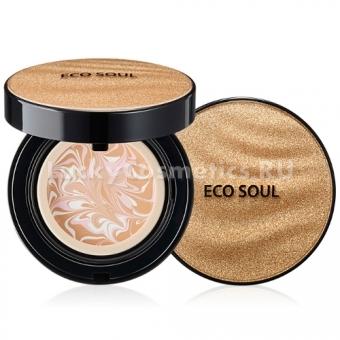Компактная тональная основа-мусс The Saem Eco Soul Essence Foundation Pact SPF50+ PA+++