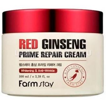 Восстанавливающий крем с женьшенем FarmStay Red Ginseng Prime Repair Cream
