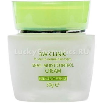 Восстанавливающий крем для лица с улиточным муцином 3W Clinic Snail Moist Control Cream