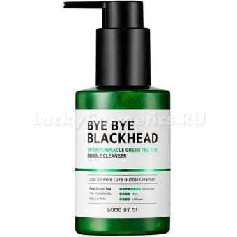 Маска-пенка от черных точек Some By Mi Bye Bye Blackhead 30 Days Miracle Green Tea Tox Bubble Cleanser