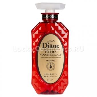 Кератиновый шампунь для придания объема волосам Moist Diane Extra Volume and Scalp Shampoo