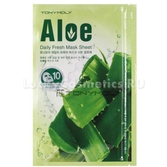Тканевая маска для лица с экстрактом алоэ Tony Moly Daily Fresh Mask Sheet Aloe