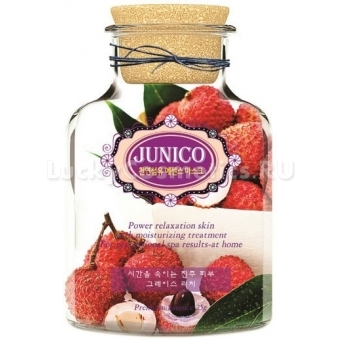 Маска с плодами личи Mijin Cosmetics Junico Lychee Essence Mask